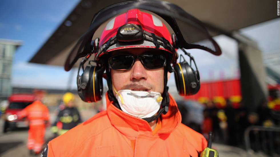 A portrait shows a member of the Urban Search and Rescue unit.