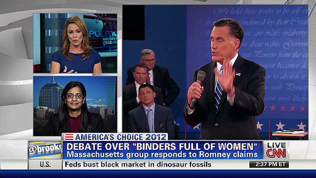 The debate over 'binders full of women'