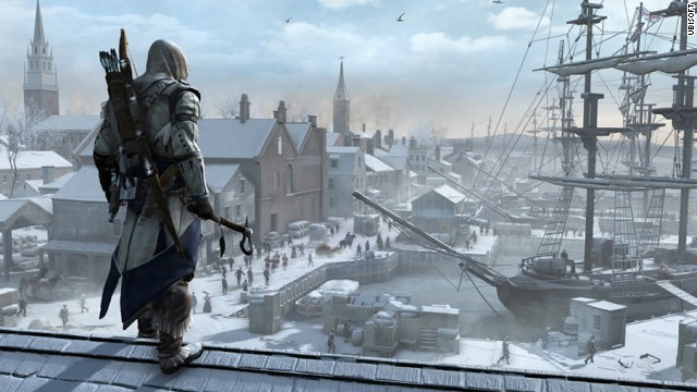 "Real U.S. history events, from the Boston Tea Party to Bunker Hill, show up in ""Assassins Creed III"""