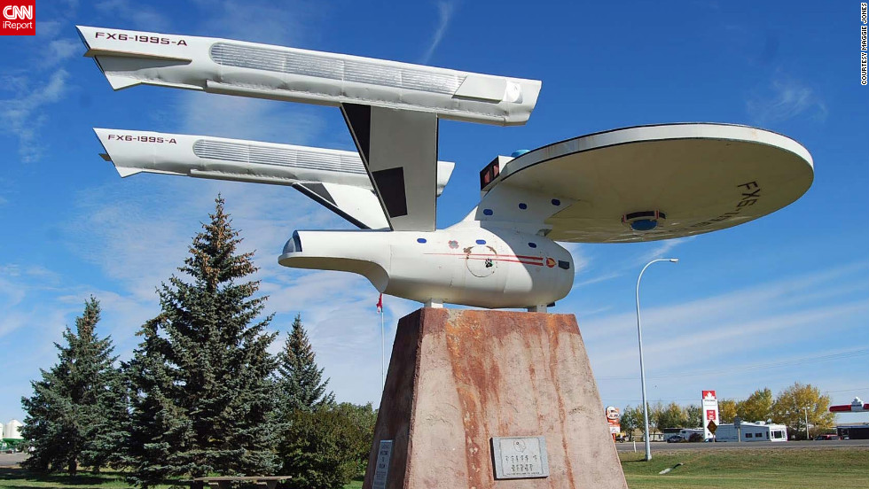 "Set course to Vulcan! Sharing its name with the home planet of Spock, Star Trek nerds are beaming down to Canada to get their dose of trekkie fun. Fans can even see a replica of the Starship Enterprise. iReporter Maggie Jones says she was impressed with her trip. ""The town really wants to give Star Trek fans a great experience,"" she told CNN. <a href=""http://ireport.cnn.com/docs/DOC-840244"" target=""_blank""><br />See more fascinating photos of Vulcan on her iReport</a>."