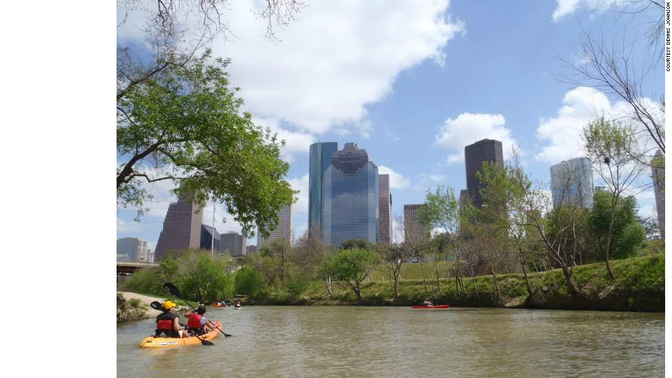 "Buffalo Bayou's history as a Houston park dates back to 1910. Today it is known as ""Houston's Central Park"" and is enjoyed by visitors as much from the water as it is from the land."