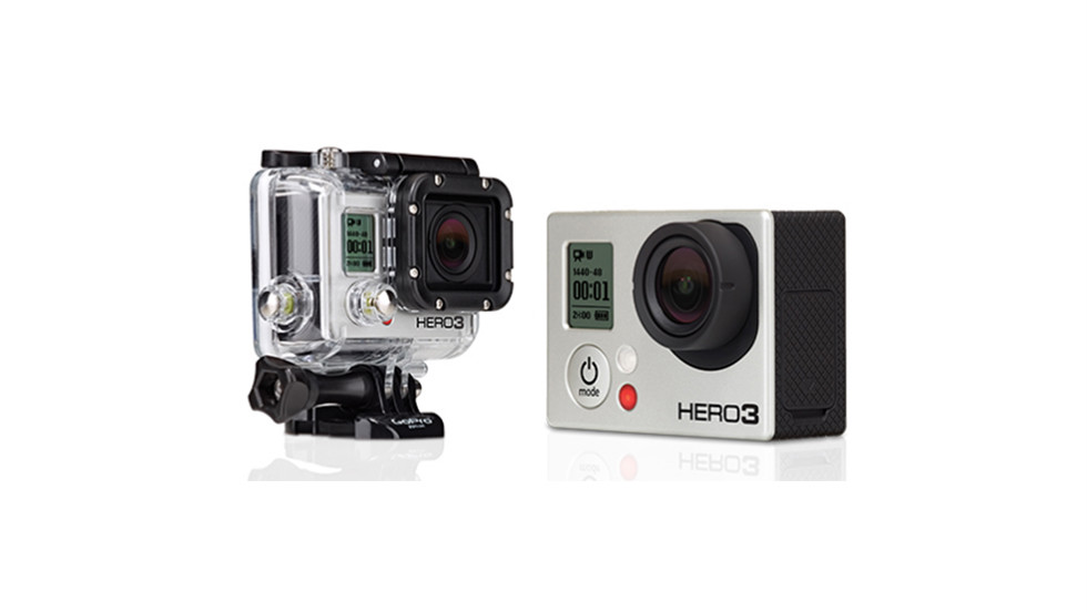 The newest GoPro camera is 30% smaller and 25% lighter than the previous version. It comes with a waterproof housing.