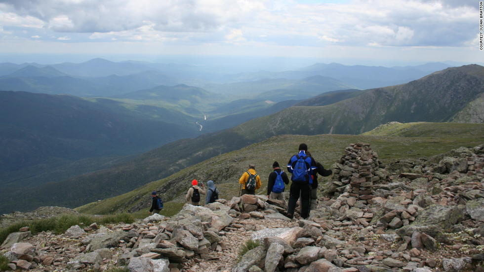 Mount Washington in New Hampshire is on the Appalachian Trail, which itself is one leg of the Triple Crown of Hiking. The other legs are the Pacific Crest Trail and the Continental Divide Trail.