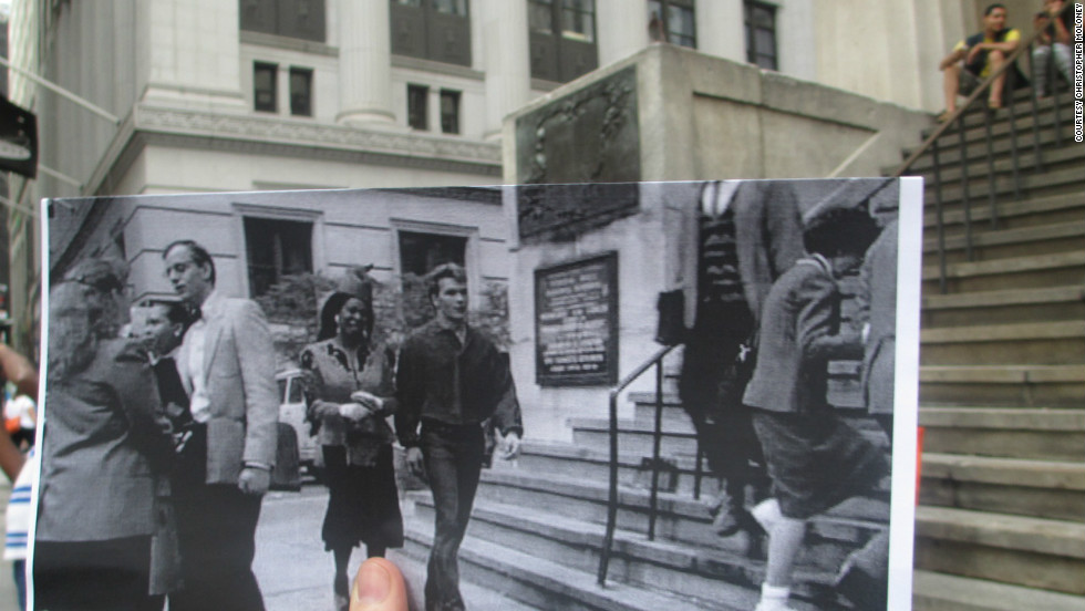 "In ""Ghost,"" the recently deceased Sam Wheat (Patrick Swayze) and his psychic friend Oda Mae Brown (Whoopi Goldberg) make their way along Wall Street on the way to the bank. En route, they pass Federal Hall, a New York movie staple, which has appeared in ""On the Town"" and ""The 10th Victim"" and as the backdrop of the battle scene in ""The Dark Knight Rises."""