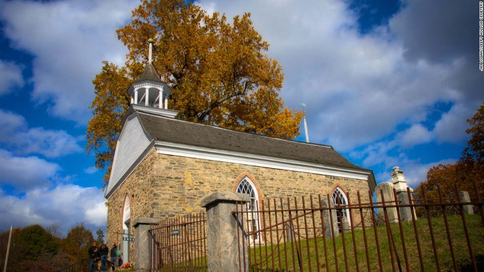 The story's setting was inspired by the Old Dutch Church of Sleepy Hollow and its burial ground.
