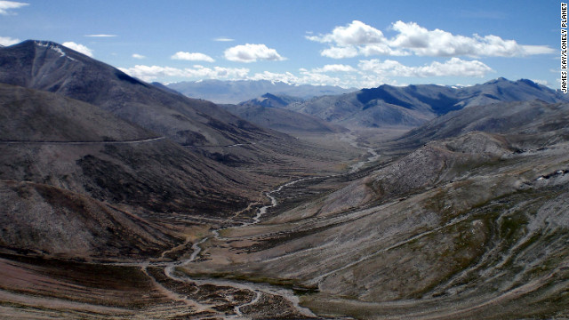 Traffic along the Manali-Leh Highway in India ascends and descends through nail-biting mountain passes.