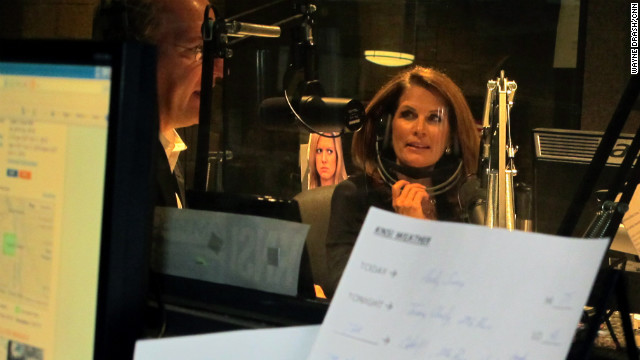 """Government has no interest or willingness to balance its books,"" Bachmann told a radio audience."