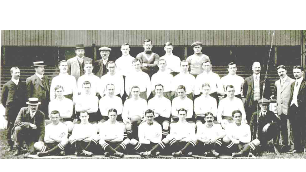 Tull had joined Spurs -- he is pictured here with his Spurs teammates sitting in the front row to the very right -- after helping Clapton F.C. win the Amateur Cup, London Senior Cup and London County Amateur Cup. He made his debut for Spurs at the age of 21.