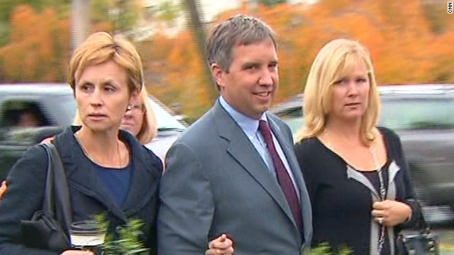 Douglas Kennedy is accused of twisting one nurse's arm and kicking another in January.