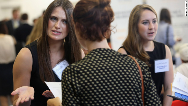 Barnard College students meet with potential employers at a career fair in September 2012. Over the next decade, women's impact on the global economy is expected to be as significant as that of China or India.