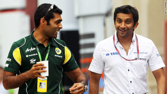 Karun Chandhok (left) and Narain Karthikeyan (right) are the only two Indians to have competed in Formula One.