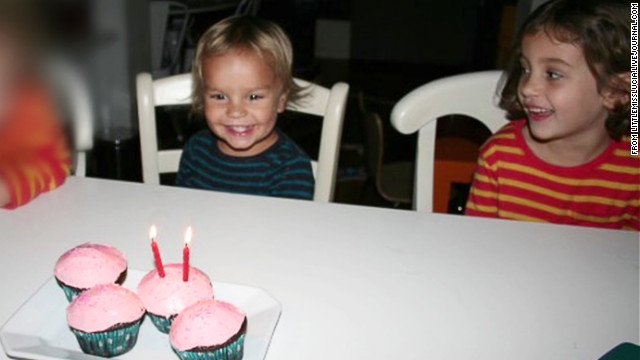 Leo, left, and Lucia Krim were discovered dead in a bathtub by their mother.
