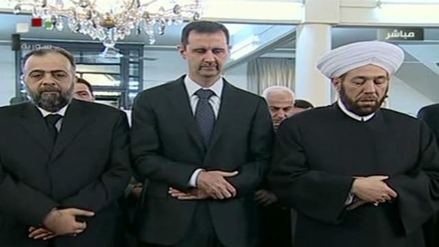 Assad performs Eid prayers