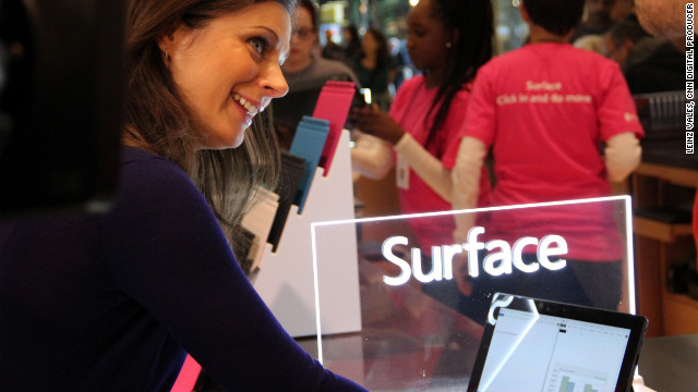 Erin Burnett test drives the 'Surface'