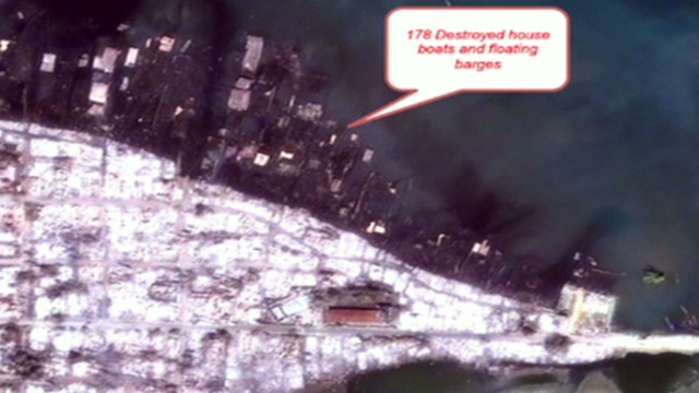 New satellite imagery shows what Human Rights Watch says is extensive destruction in a Rohingya area of Kyauk Pyu.
