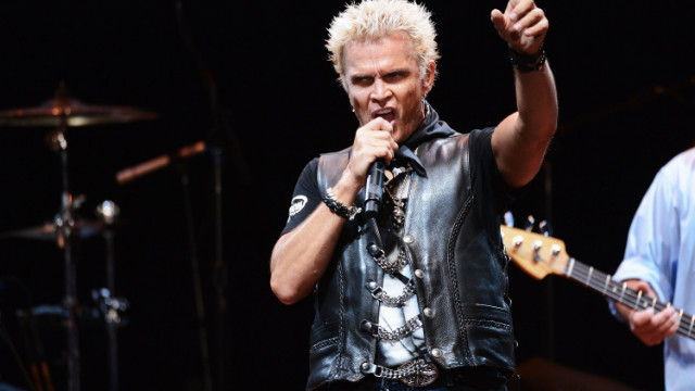 LOS ANGELES, CA - MAY 31: Singer Billy Idol performs onstage during the 8th Annual MusiCares MAP Fund Benefit at Club Nokia on May 31, 2012 in Los Angeles, California. The MusiCares MAP Fund benefit raises resources for the MusiCares MAP Fund, which provides members of the music community access to addiction recovery treatment. More information at musicares.org. (Photo by Mark Davis/Getty Images)