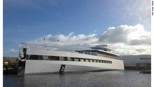 "Late Apple co-founder Steve Jobs' yacht was unveiled in a Dutch shipyard in October and christened ""Venus."""