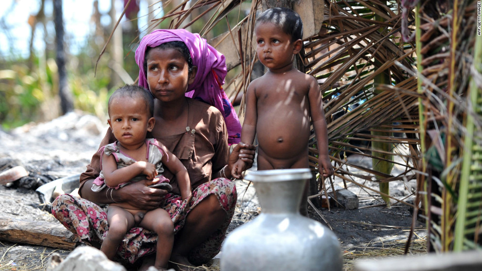 Those forced to flee the violence, which has mainly affected the Muslim Rohingya minority, are living in makeshift camps.