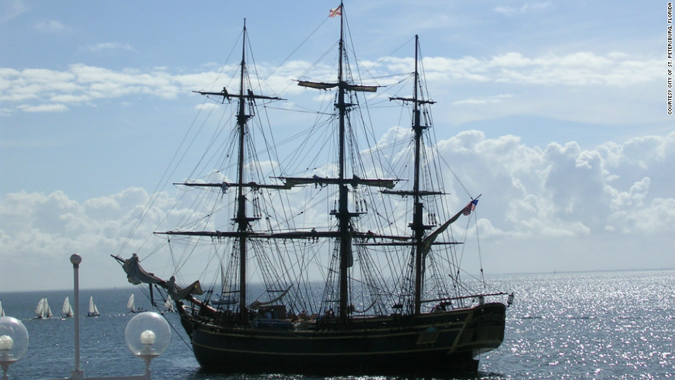 A replica of the HMS Bounty sank in the Atlantic Ocean in waters roiled by Hurricane Sandy on Monday, October 30, 2012. Of the 16 people onboard, three were washed overboard. One is confirmed dead, one was recovered safely and Robin Walbridge, the replica's longtime captain, was still missing. The other 13 people onboard were recovered safely.