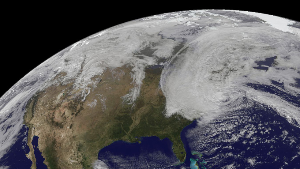 This satellite image shows Sandy at 2:22 p.m. ET on Monday, October 29.