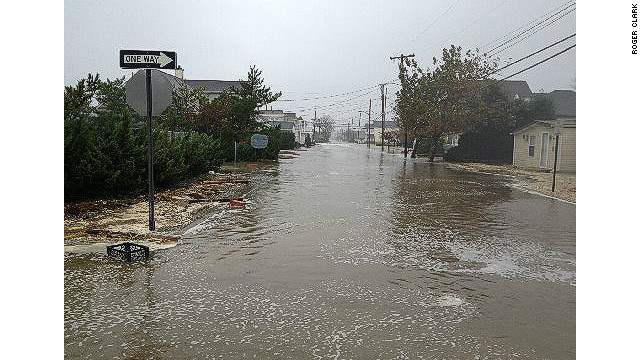 New Jersey barrier island flooding
