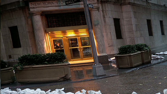 Wall Street closes for Hurricane Sandy