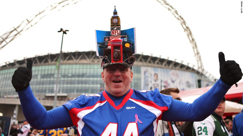 Fans flocked to England's national soccer stadium on Sunday for the NFL's sixth International Series match at Wembley.