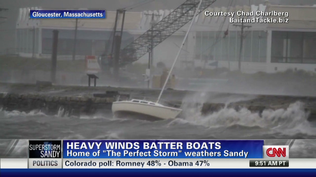 Superstorm Sandy batters boats