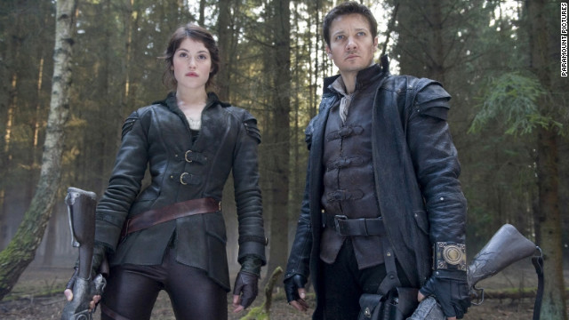 "Gemma Arterton stars as Gretel and Jeremy Renner stars as Hansel in ""Hansel and Gretel: Witch Hunters."""