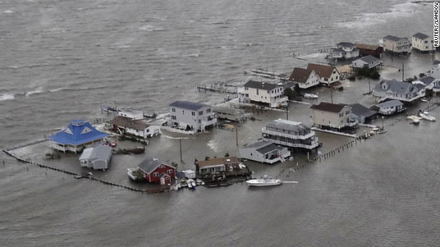 "Image #: 19933573    Homes are flooded after Hurricane Sandy made landfall on the southern New Jersey coastline in this U.S. Coast Guard handout photo in Tuckerton, New Jersey, October 30, 2012. In the storm's wake, Obama issued federal emergency decrees for New York and New Jersey, declaring that ""major disasters"" existed in both states. One disaster-forecasting company predicted economic losses could ultimately reach $20 billion (12.4 billion pounds), only half insured.  REUTERS/U.S.Coast Guard/Handout  (UNITED STATES - Tags: ENVIRONMENT DISASTER TPX IMAGES OF THE DAY) FOR EDITORIAL USE ONLY. NOT FOR SALE FOR MARKETING OR ADVERTISING CAMPAIGNS       Reuters /HANDOUT /LANDOV"