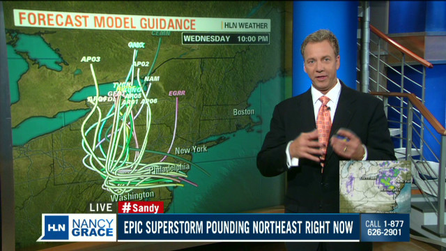 Sandy makes landfall