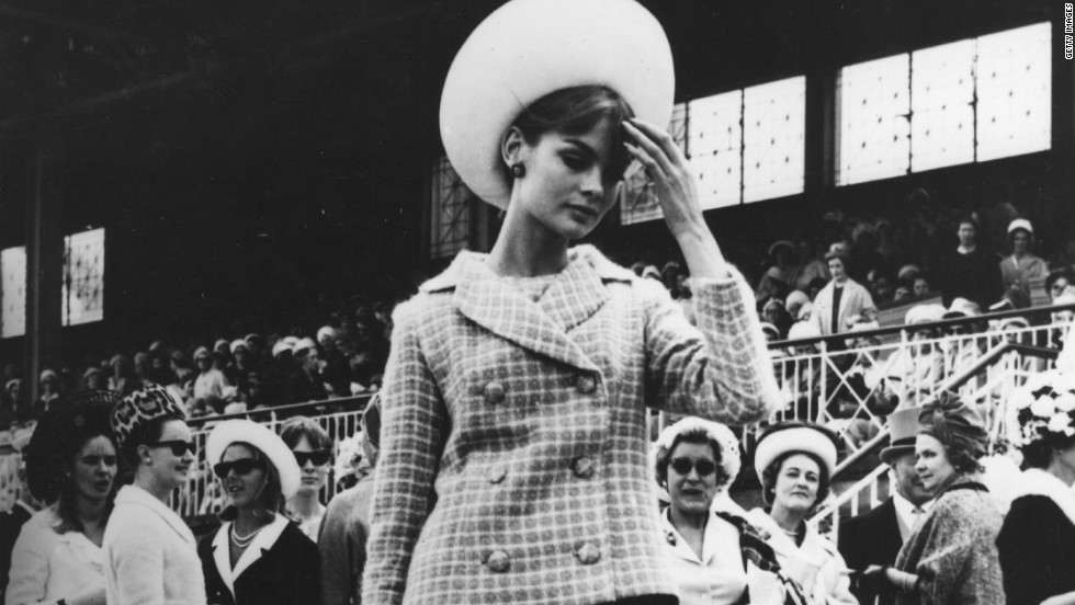 DuPont employed a local milliner, Adele Chapeaux of South Yarra, to create a hat for Shrimpton's next appearances. The model complied -- for one day.