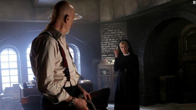 "Jessica Lange stars as Sister Jude in FX's ""American Horror Story: Asylum."""