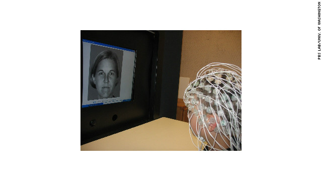 Children's brain activity was measured while they looked at faces.