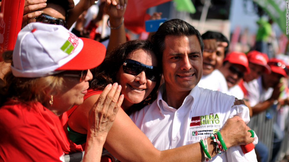 "<strong>Mexico</strong> elected Enrique Pena Nieto in July to succeed current President Felipe Calderon, whose six-year term ends this year. Pena Nieto was once governor of Mexico's most populous state, and his party opposes Calderon's. He has called for a <a href=""http://globalpublicsquare.blogs.cnn.com/2012/07/08/mexicos-pena-nieto-calls-for-new-debate-on-the-drug-war/"">""new debate""</a> on the war against drug trafficking."