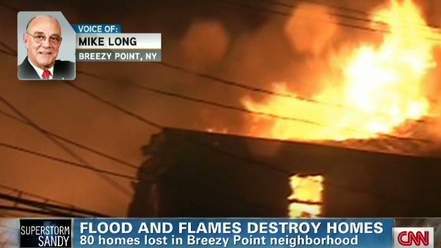 Resident devastated by Sandy talks fire