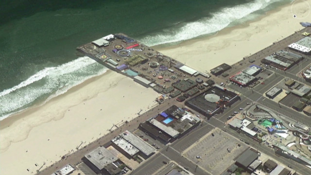 New Jersey beach before and after Sandy