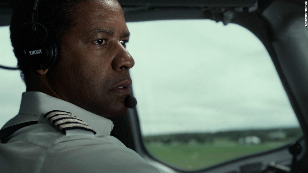 "In ""Flight,"" Denzel Washington plays a pilot at the center of a disastrous airplane malfunction."