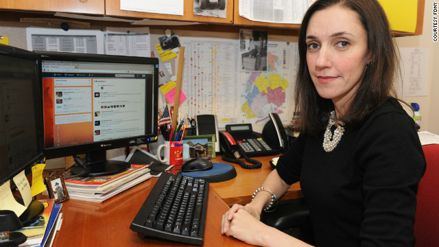 Emily Rahimi, social media manager for the New York Fire Department, relayed tweets to 911 dispatchers.