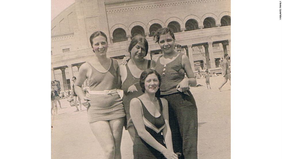 My grandmother (far left) in Atlantic City, 1932