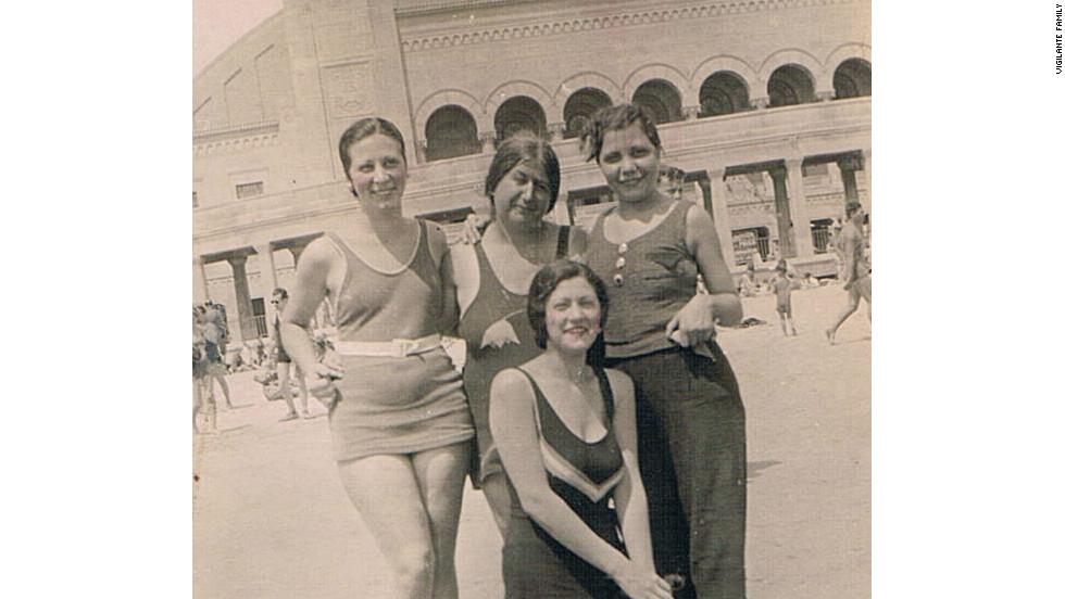 My grandmother (far left) in Atlantic City, 1932