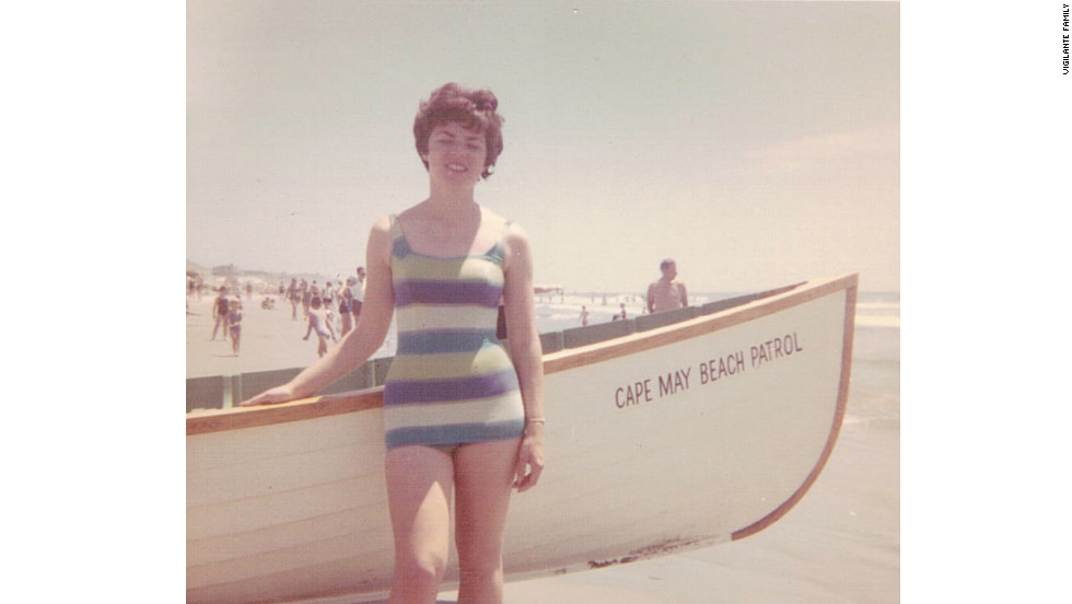 My mom in Cape May, 1962