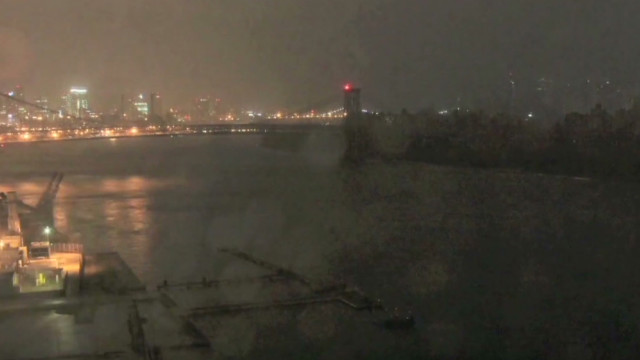 NYC time-lapse shows storm hit