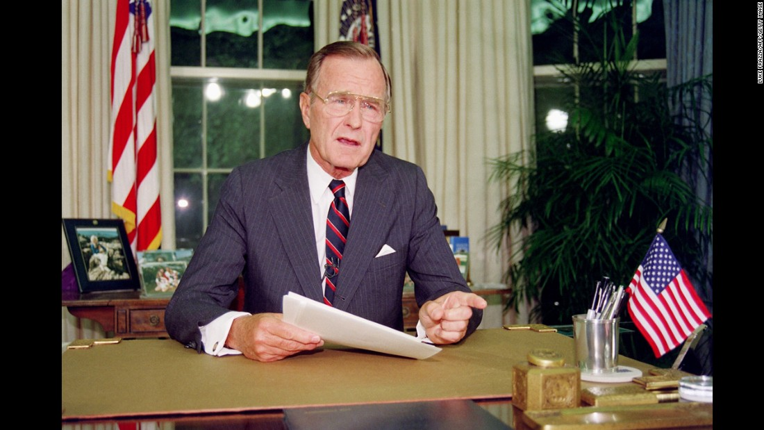 "George H. W. Bush was diagnosed with Grave's disease while in office. According to former White House physician Connie Mariano,  ""There was some question when he had hyperthyroidism, Grave's disease, around the time of the Gulf War. Did that make him more hyper and aggressive? Did it affect his memory, his ability to focus? It's hard to say."""