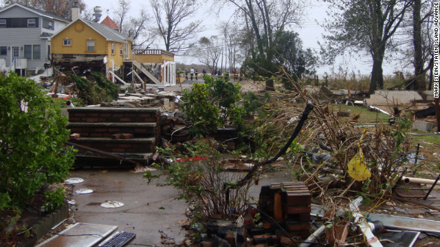 A surge of water destroyed the Staten Island, New York, home of George and Patricia Dresch and their daughter Angela.