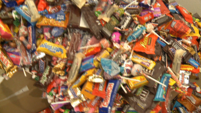Dentist buys back Halloween candy