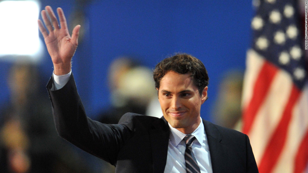 Mitt Romney's son Craig waves to the crowd at the 2012 convention.