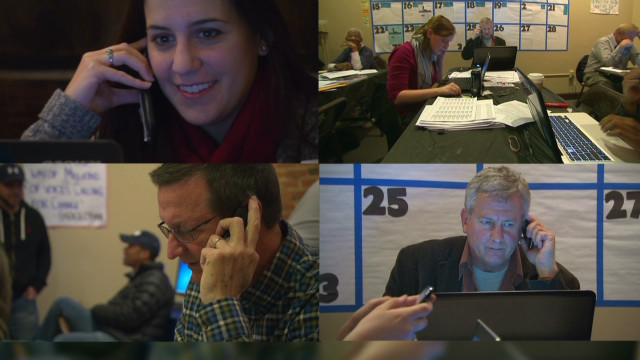 Dueling campaign phone banks in Ohio