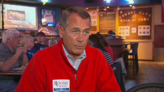 Boehner very confident on Romney in Ohio