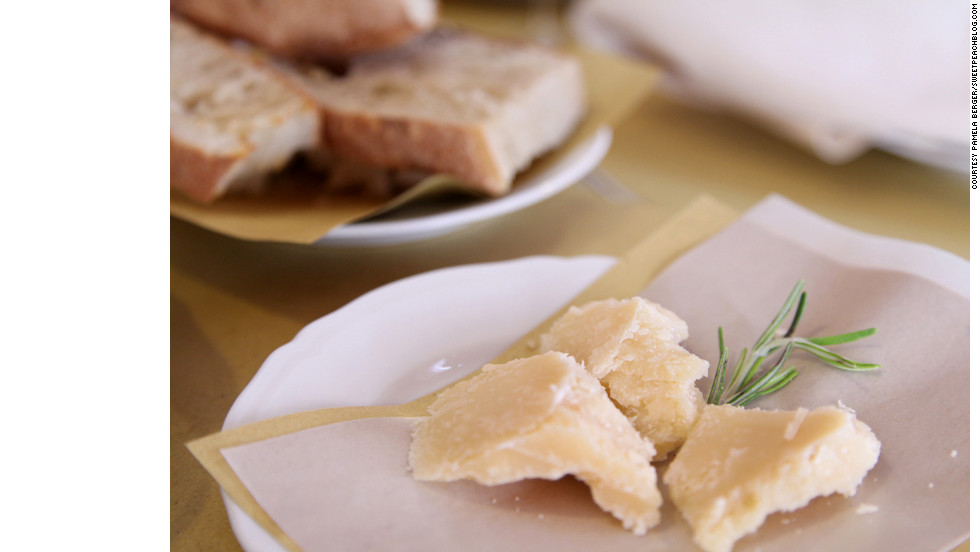This local Parmigiano Reggiano cheese, aged 30 months, presents complex flavors that can't be understood until tried -- and savored.
